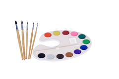 Watercolor paint Stock Photography