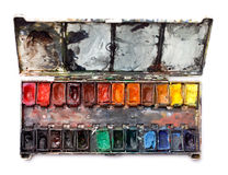 Watercolor paint box Royalty Free Stock Images