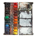 Watercolor paint box Stock Image