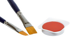 Watercolor and Paint Brush Royalty Free Stock Photos