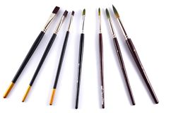 Watercolor paint brushes Royalty Free Stock Photos