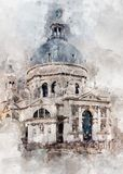 Watercolor Paint, Building, Painting, Paint Royalty Free Stock Photos