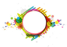 Watercolor paint design artwork Royalty Free Stock Photo