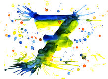 Watercolor paint - digit Royalty Free Stock Photo
