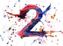 Watercolor paint - digit vector illustration