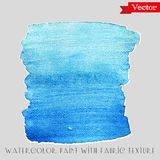 Watercolor paint with fabric texture Royalty Free Stock Photo