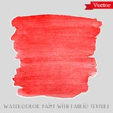 Watercolor paint with fabric texture Royalty Free Stock Photos
