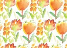 Watercolor paint floral image Stock Photos