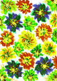 Watercolor paint. flower background Royalty Free Stock Images