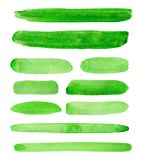 Watercolor paint green background design shapes Stock Photography