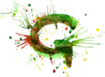 Watercolor paint - letter G Royalty Free Stock Photo