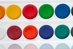 Watercolor paint on palette Royalty Free Stock Photo