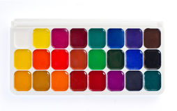 Watercolor paint palette Stock Photography