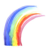 Watercolor paint rainbow. hand drawn Stock Images