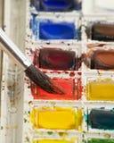 Watercolor paint set Stock Photography