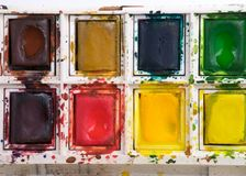 Watercolor paint set Royalty Free Stock Photo