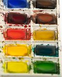 Watercolor paint set Royalty Free Stock Image