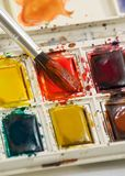 Watercolor paint set Royalty Free Stock Photography