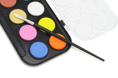 Watercolor paint set Stock Photography