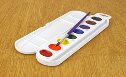 Watercolor paint set Stock Photos