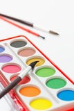 Watercolor Paint Set Stock Image
