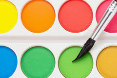 Watercolor Paint Set Stock Images