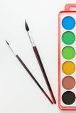 Watercolor Paint Set Royalty Free Stock Images