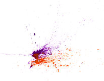 Watercolor paint splash Stock Images