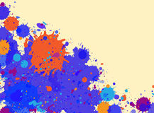 Watercolor paint splashes frame Royalty Free Stock Images
