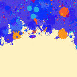 Watercolor paint splashes frame Stock Images
