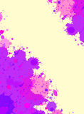Watercolor paint splashes frame Royalty Free Stock Photos