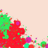 Watercolor paint splashes frame Stock Photo