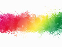 Watercolor Paint Splatter Border Royalty Free Stock Photos
