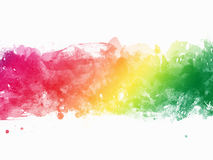 Watercolor Paint Splatter Border Royalty Free Stock Images