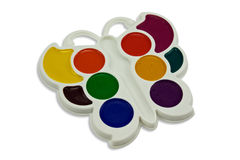 Watercolor paint tray Royalty Free Stock Image