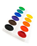Watercolor paint tray Stock Images