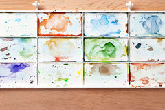 Watercolor paint tray stock image