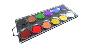 Watercolor paintbox Stock Photography