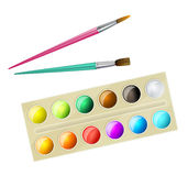 Watercolor paintbox Royalty Free Stock Images