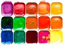 Watercolor paintbox Stock Photos