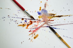Watercolor paintbrush Stock Photo