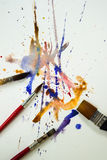 Watercolor paintbrush Royalty Free Stock Images