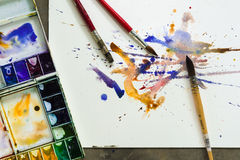 Watercolor paintbrush Royalty Free Stock Image
