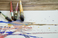 Watercolor paintbrush Stock Photography