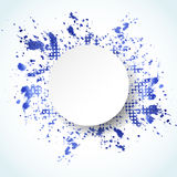 Watercolor painted abstract background. Vector splash blue banner. Royalty Free Stock Images