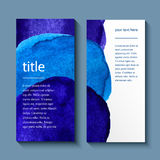 Watercolor painted background design, business Stock Photography
