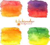 Watercolor painted banners vector set Royalty Free Stock Photo