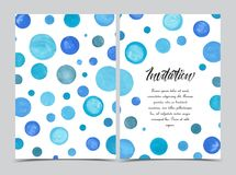 Watercolor painted circle Stock Images