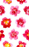 Watercolor painted pattern with camellia Royalty Free Stock Images