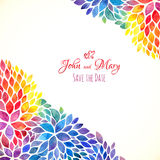 Watercolor painted rainbow colors invitation stock illustration